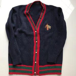 Sweaters - Navy varsity sweater cardigan